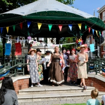 Bunting on the Bandstand